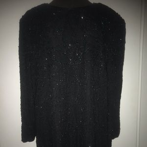 Holiday beaded blouse